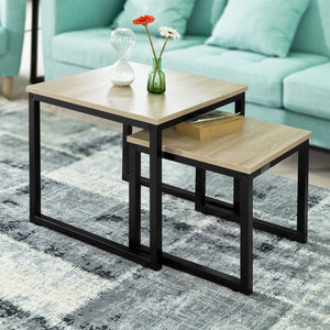 SoBuy Set of 2 Nesting Tables Side Table End Table, FBT42-N