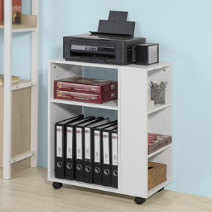 SoBuy White Wood 3 Tiers Storage Bookcase Side Table FBT68-W