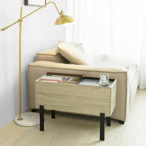 SoBuy Side Table End Table Coffee Table Sofa Side Table with Removable Tray,FBT88-N