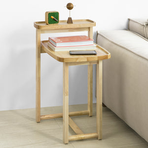 SoBuy Side Table End Table Coffee Table Bedside Table, Bed Sofa Side Table, Rubber Wood,FBT89-N