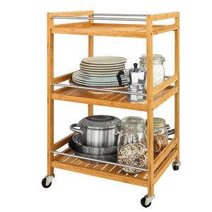 SoBuy Kitchen Storage Trolley, Tea Serving Cart, Bathroom Shelf, FKW11-N