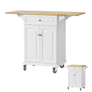 SoBuy Kitchen Trolley with Extendable Worktop,FKW36-WN