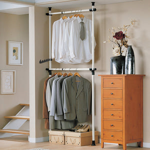 SoBuy Adjustable Telescopic Wardrobe Organiser,FRG109