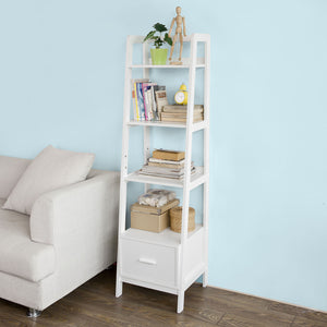 SoBuy White Storage Display Shelf Bookcase with Drawer and Shelves,FRG116-K-W