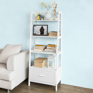 SoBuy White Storage Display Shelf Bookcase with Drawer and Shelves,FRG116-W