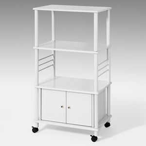 SoBuy Kitchen Storage Cabinet, Kitchen Cart, Microwave Shelf, FRG12-W,White