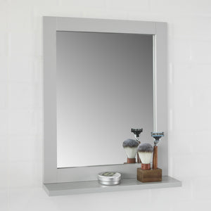 SoBuy Wall Mounted Bathroom Mirror with Storage Shelf, Bathroom Wall Mirror,FRG129-HG
