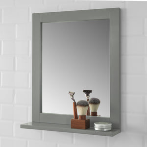 SoBuy Wall Mounted Bathroom Mirror with Storage Shelf, Bathroom Wall Mirror,FRG129-SG