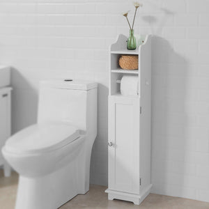 SoBuy Wooden Bathroom Toilet Paper Storage Cabinet FRG177-W