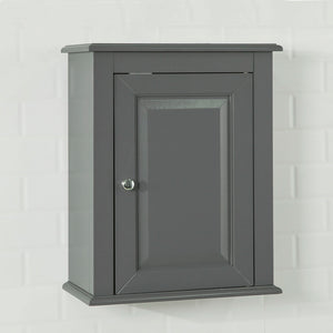 SoBuy Wood Wall Mounted Bathroom Storage Cabinet with Door Grey FRG203-DG