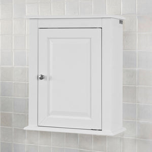 SoBuy White Wood Wall Mounted Single Door Bathroom Storage Cabinet,FRG203-W
