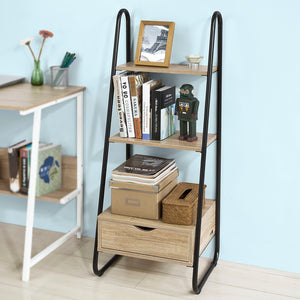 SoBuy Freestanding Ladder Shelf Rack Bookcase Storage Display Unit FRG219-N
