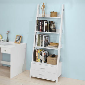 SoBuy Home Storage Shelving Rack with Drawers,White,FRG230-W