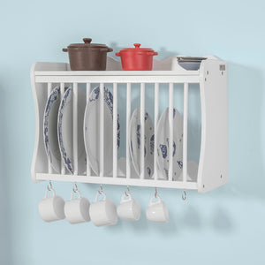 SoBuy® Wall Mounted Kitchen Plate Cup Holder Dish Storage Rack Shelf,FRG275-W