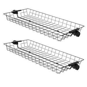 SoBuy FRG34-P02,Two Storage Baskets for Adjustable Wardrobe Organizer