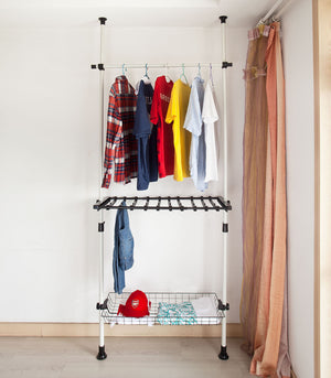 SoBuy Telescopic Storage Shelving, Wardrobe Organiser, Clothes Rack, FRG35