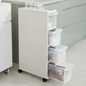 SoBuy 4 Drawers Slide Out Kitchen Cabinet, Bathroom Rack, Tower, FRG41-HG