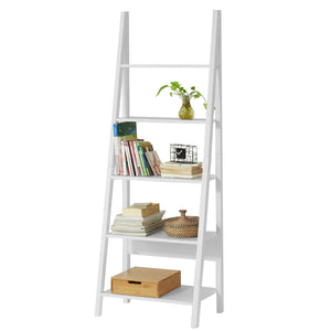 SoBuy White Wood 5 Tiers Storage Display Shelving,FRG61-W