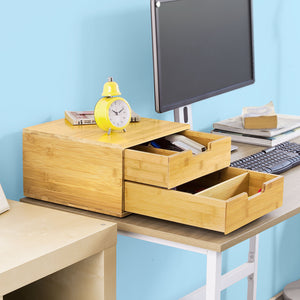 SoBuy Coffee Machine Stand & Pod Capsule Teabags Organiser 2 Drawers, FRG82-N