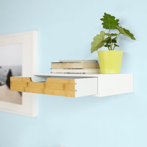 SoBuy Wall Shelf Storage Display Shelving,Floating Shelf with Drawer,FRG92-WN