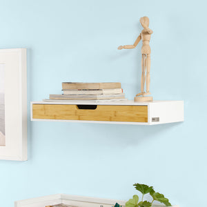 SoBuy Wall Storage Display Shelving, Wall Mounted Floating Drawer,FRG93-WN