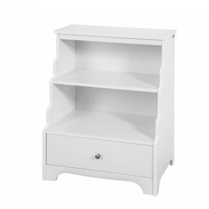 SoBuy FSB13-W, White Storage Unit Bookcase Sideboard Cabinet with Drawer and 2 Shelves