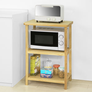 SoBuy 3 Tiers Side Table End Table Side Board Storage Display Shelf Microwave Shelf,FSB22-N