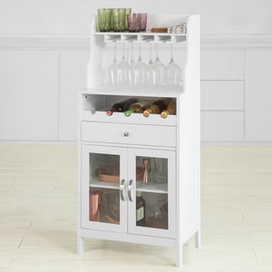 SoBuy Kitchen Dining Room Storage Cabinet Cupboard Sideboard Wine Rack Wine Cabinet,FSB24-W