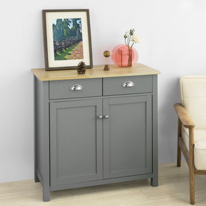 SoBuy Kitchen Dining Room Living Room Storage Cabinet Cupboard Sideboard, Grey,FSB25-HG