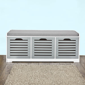 SoBuy Padd Hallway Shoe Storage Bench with 3 Drawers, FSR23-HG
