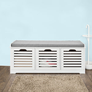 SoBuy Shoe Storage Bench With Drawers & Cushion,FSR23-W