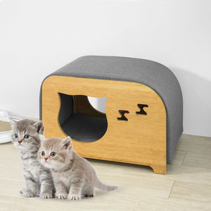 SoBuy Cat House Cat Bed Cat Litter Box Pet House Bench Stool with Cushions,FSR72-N