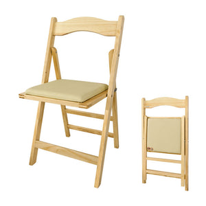 SoBuy Home Office Wooden Folding Chair,FST06-N, Nature