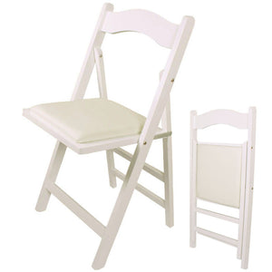 SoBuy Folding Wooden Chair,Home Office Folding Chair Seating, FST06-W, White