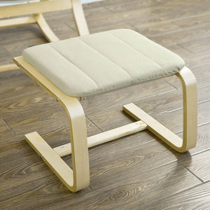 SoBuy Beech Wood Footstool Footrest with Cushion,FST38-W