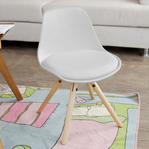 SoBuy Lovely Kids Children Chair,PP/PU Leather, White,FST46-W
