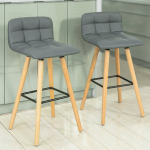 SoBuy Set of 2 Kitchen Breakfast Barstool with PU Leather FST50-HGx2