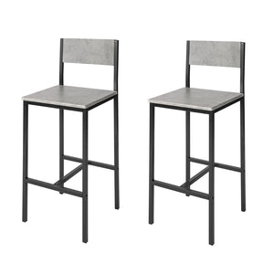 SoBuy Set of 2 Bar Stools, Kitchen Breakfast Bar Stools Barstools High Chairs, FST53-HGx2