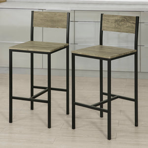 SoBuy Set of 2 High Back Kitchen Breakfast Dining Chairs,FST53x2