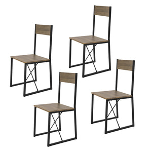 SoBuy Set of 4 Dining Chairs, Modern Design Kitchen Chairs Dining Chairs,FST67x4