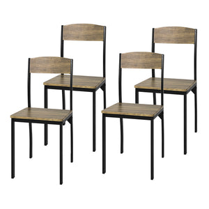 SoBuy® Set of 4 Dining Chairs, Modern Design Kitchen Dining Chairs MDF & Metal,FST73-Nx4