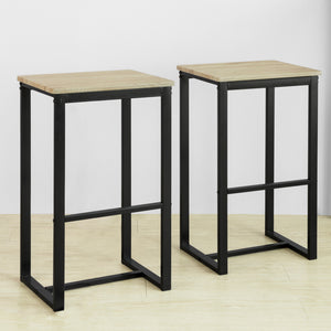 SoBuy FST74-Nx2, Set of 2 Barstools, Kitchen Breakfast Bar Stools Barstools, 40x30x67cm