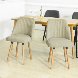 SoBuy FST84-MIx2 set of 2 dining room chair kitchen chair living room chair with backrest Chair group with seat made of linen