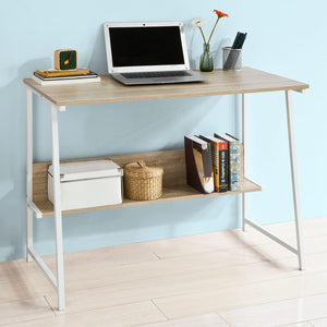 SoBuy Home Office Computer Table Desk Workstationwith Storage Shelf,FWT34-N
