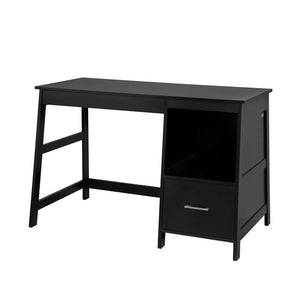 SoBuy FWT38-SCH, Home Office Table Desk, Computer Desk Computer Workstation with Drawers, Black + Free Drawer Divider