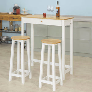 SoBuy 3 PCS Kitchen Breakfast Dining Bar Set-1 Table and 2 Stools,FWT50-WN