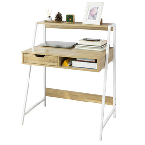 SoBuy FWT63-N,Home Office Table Desk Computer Desk Workstation with Storage Shelf