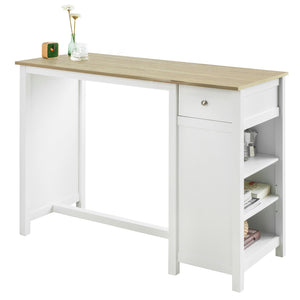 SoBuy Bar Table Kitchen Breakfast Dining Bar Table Coffee Bar Kitchen Island Counter Table,FWT64-WN