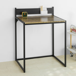 SoBuy FWT66-SCH Table Computer Desk Workstation Industrial Style Study Table, Small Size Space Saving