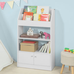 SoBuy White Wood Children Kids Storage Display Bookcase Cabinet KMB11-W
